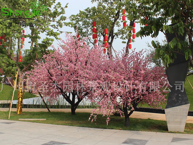 """广晟仿真桃花树给你一假树个""""世外桃源、三生三世"""""""