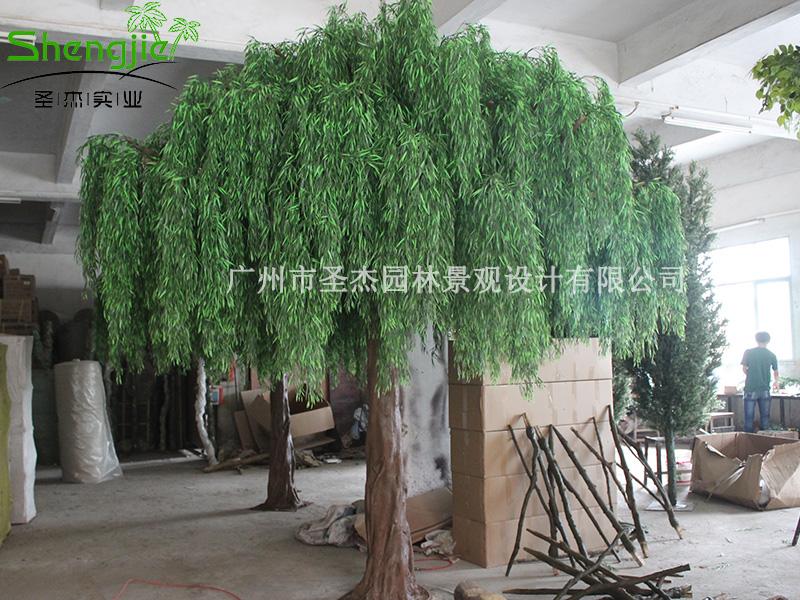 广晟仿真柳树给你一个仿真橡树绿意盎然的极美景观假树假树