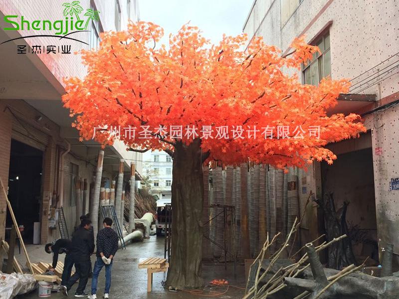 广晟仿真枫树让你仿真植物停留在秋天的世界里